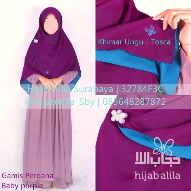 Khimar Ungu - Tosca & Gamis Perdana Baby purple