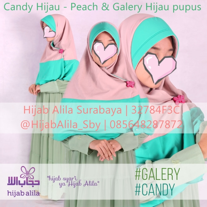 Candy Hijau - Peach